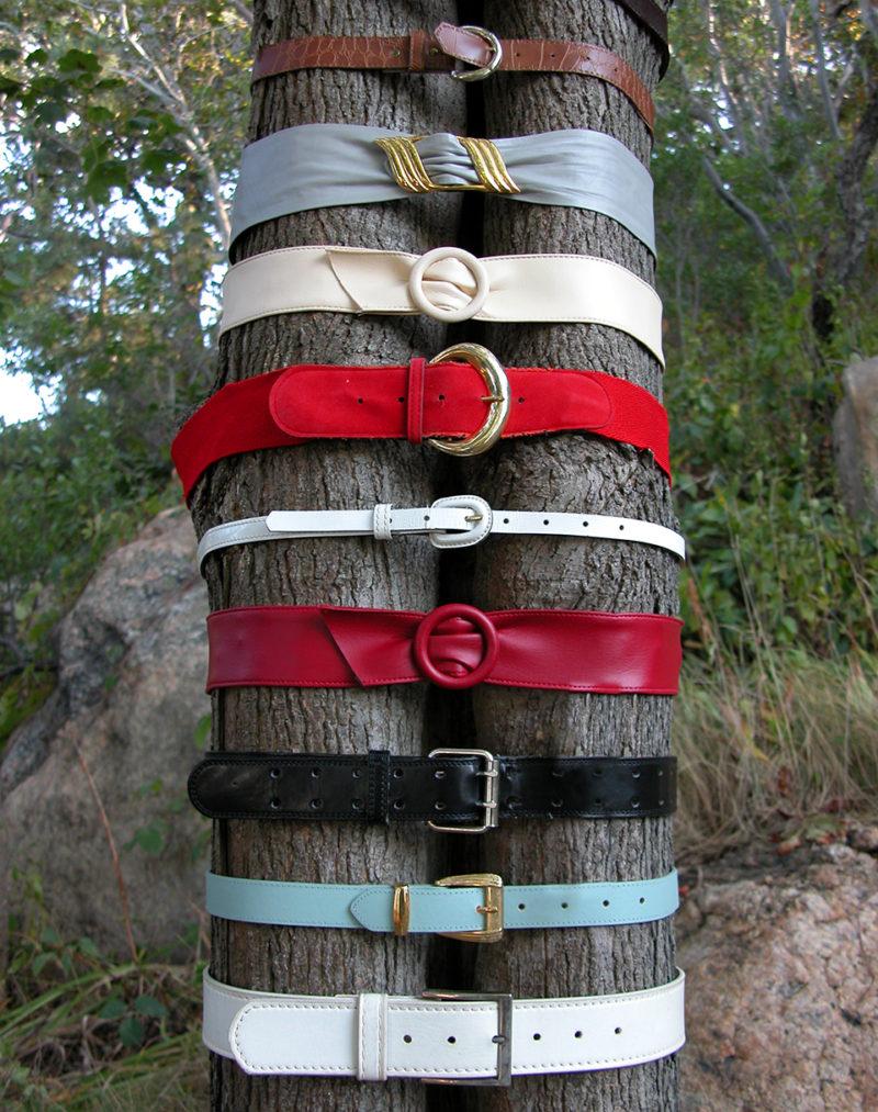 Belt Sculpture: Untitled (25 Belts), 2005 (detail)