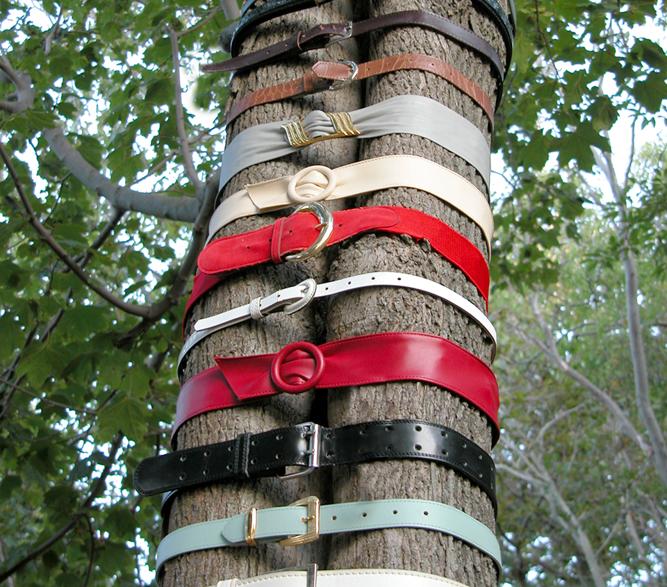Untitled (25 Belts), 2005 (angle)