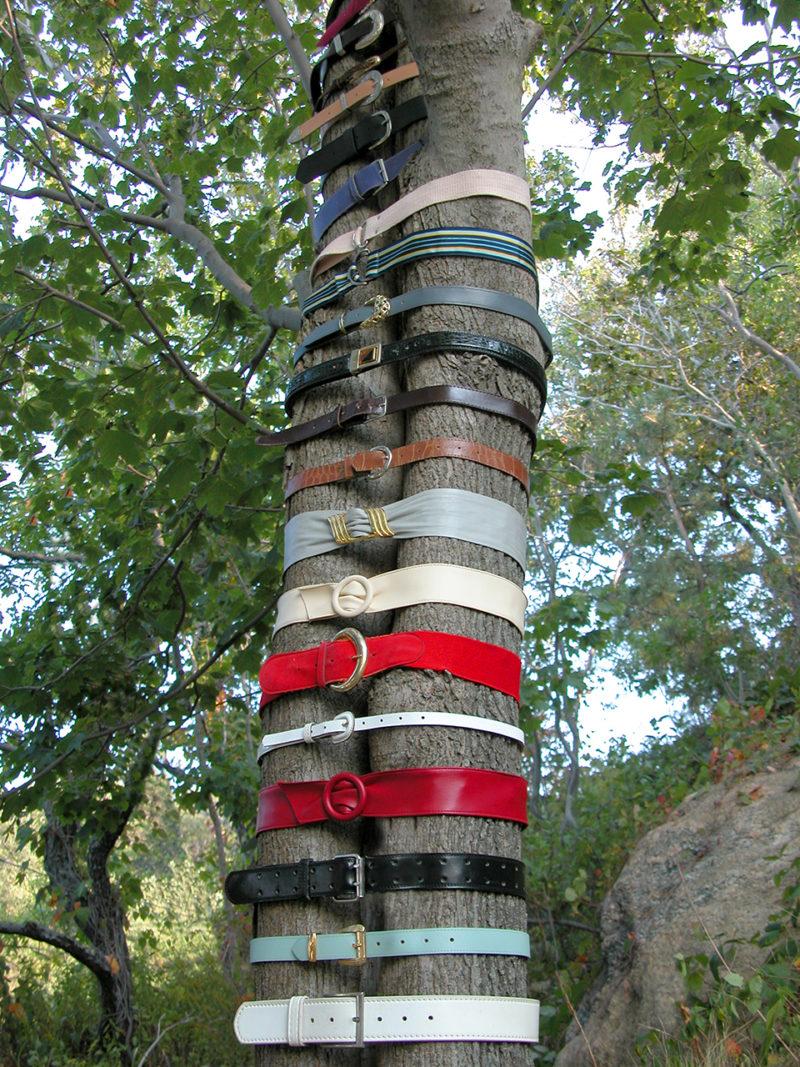 Belt Sculpture: Untitled (25 Belts), 2005