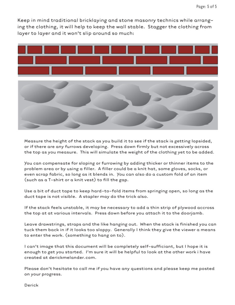 Clothing Sculpture Instructions: Boundary, 2005 (page 5)