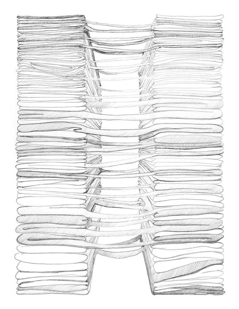 Clothing Sculpture Drawing: Bridge