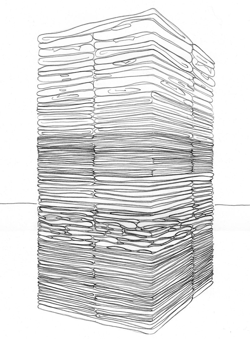 Clothing Sculpture Drawing: Shift 1, 2007