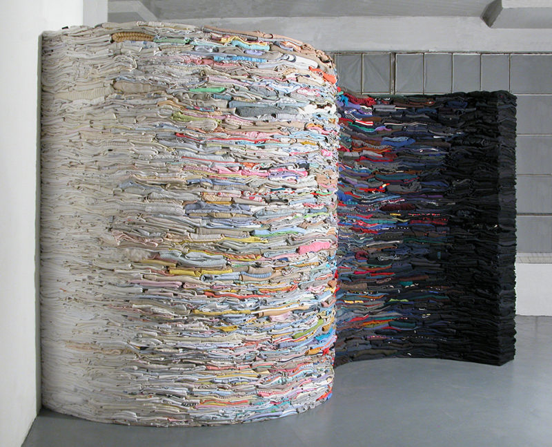 Clothing Sculpture: The Ocean is the Underlying Basis for Every Wave, 2008 (white side)