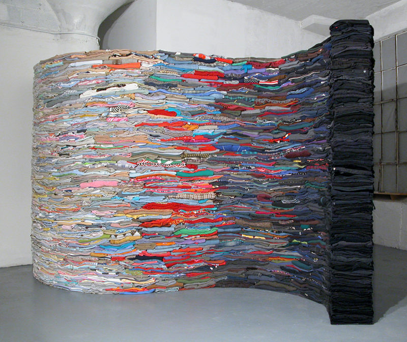 Clothing Sculpture: The Ocean is the Underlying Basis for Every Wave, 2008 (black side)