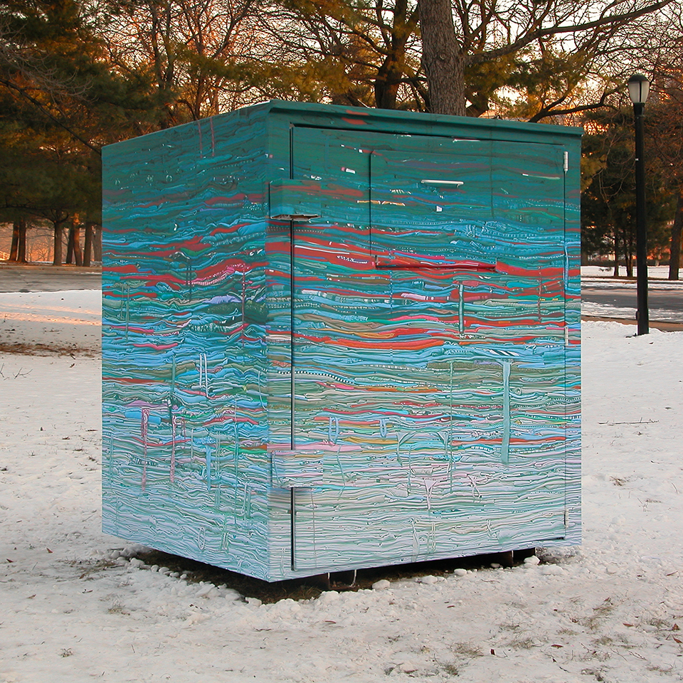 Clothing Drop-Bin Sculpture: Into the Fold, 2009