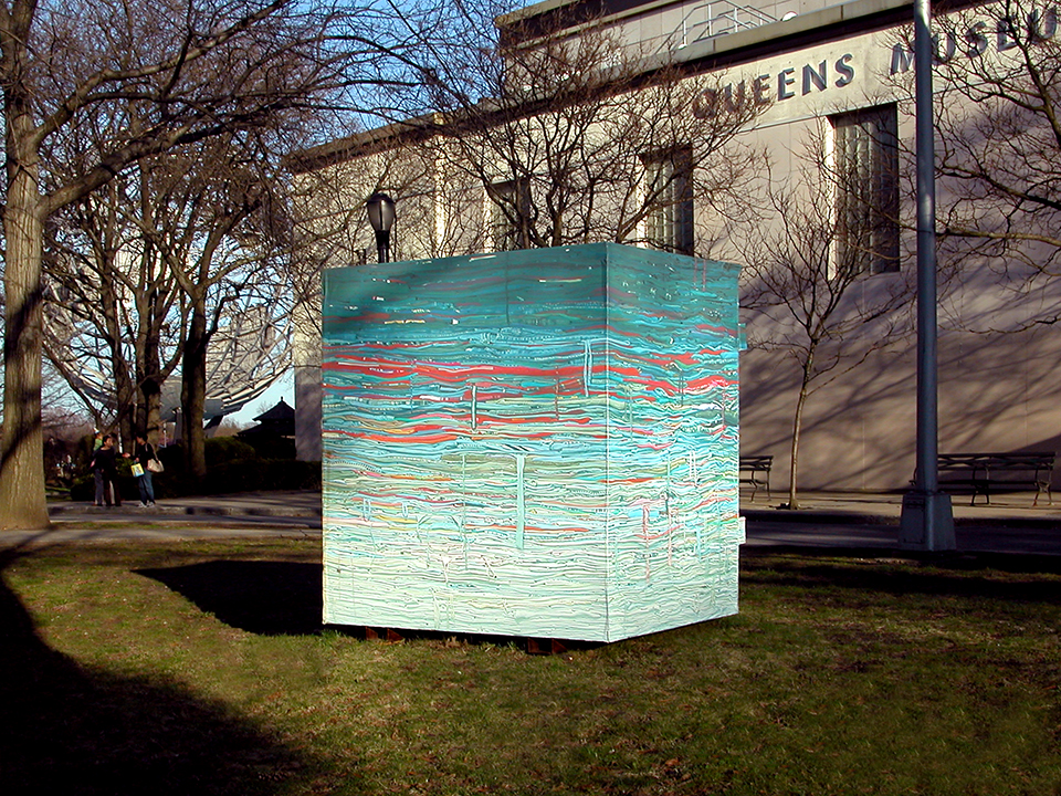 Clothing Drop-Bin Sculpture: Into the Fold, 2009 (museum)