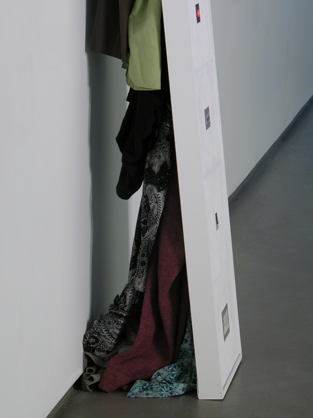 Clothing Sculpture: My Agenda for Chaos, 2008 (side view)