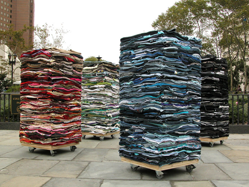 Clothing Sculpture: Into the Fold, Brooklyn, 2009 (dispersed)
