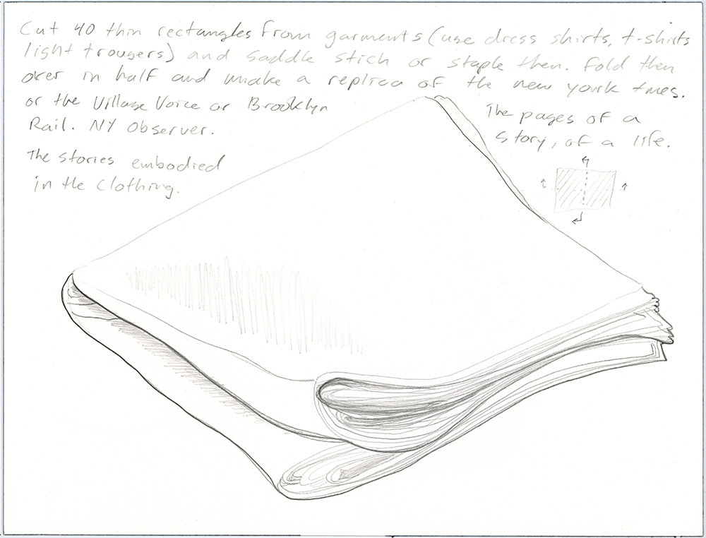 Clothing Sculpture Drawing: Story, 2010