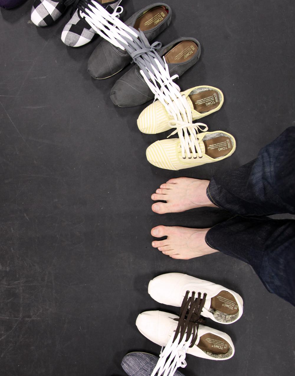 Shoe Sculpture: Circuit, 2011 (feet)