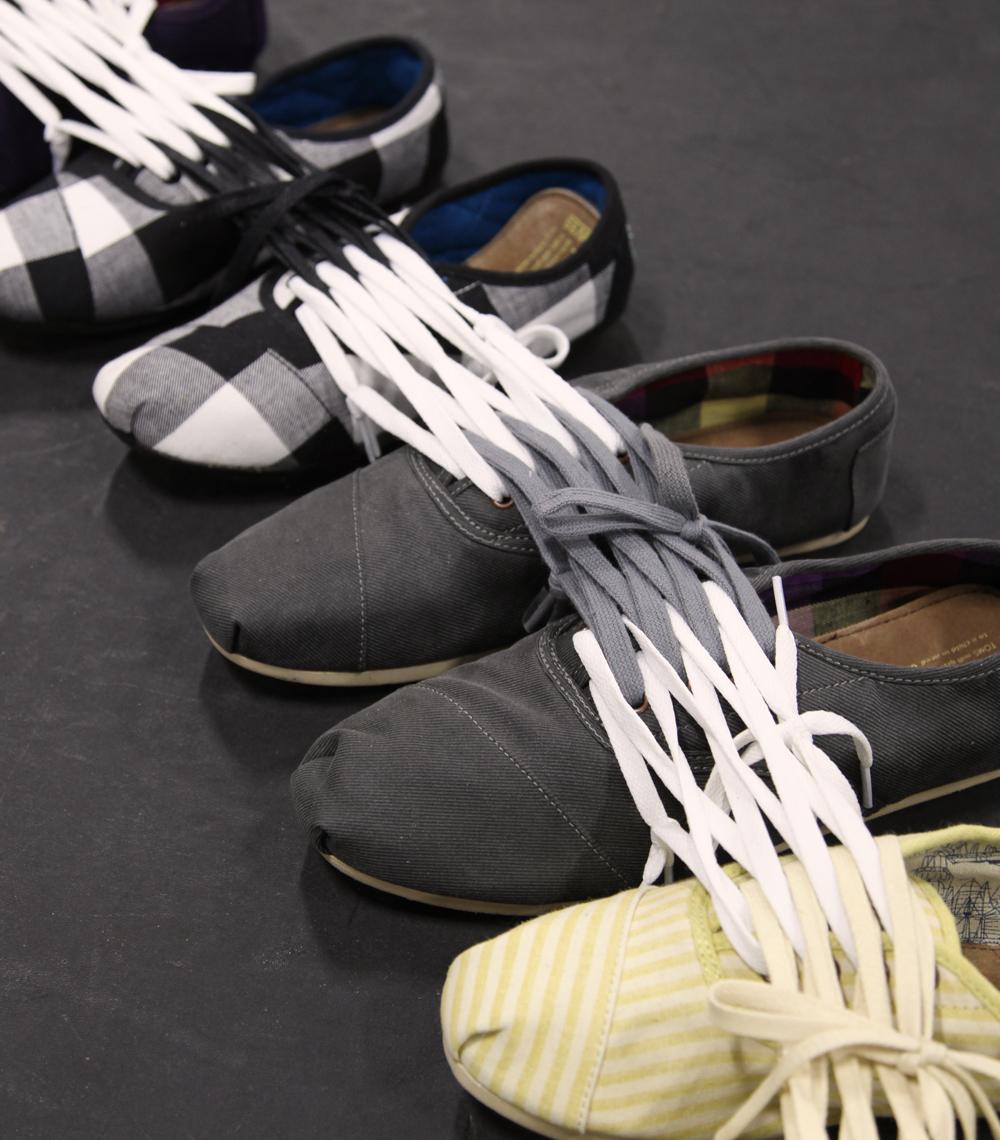 Shoe Sculpture: Circuit, 2011 (detail)