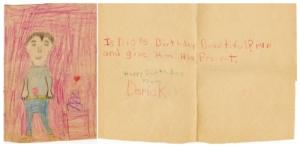 Dads Birthday Card, 1971, Age 6