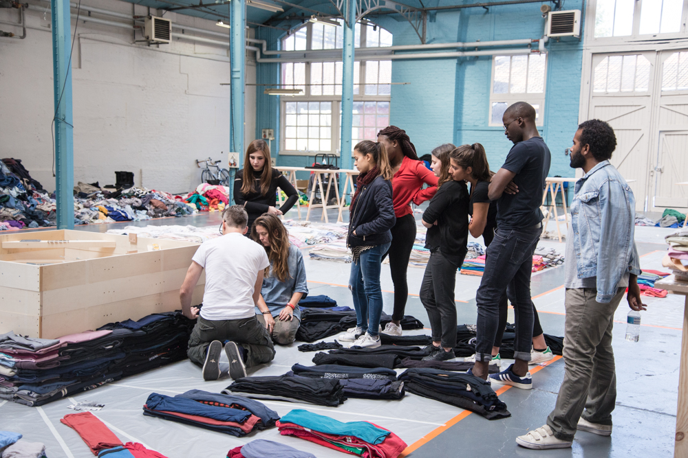 Clothing Stacking Demo (Photo by Edouard Ducos)