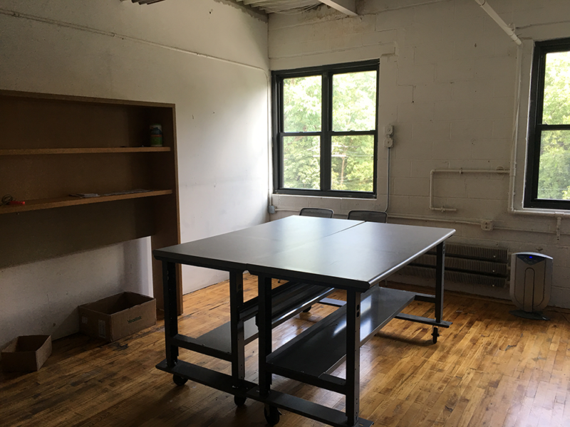 Studio, Eileen Fisher Tiny Factory, 2018 (tables)