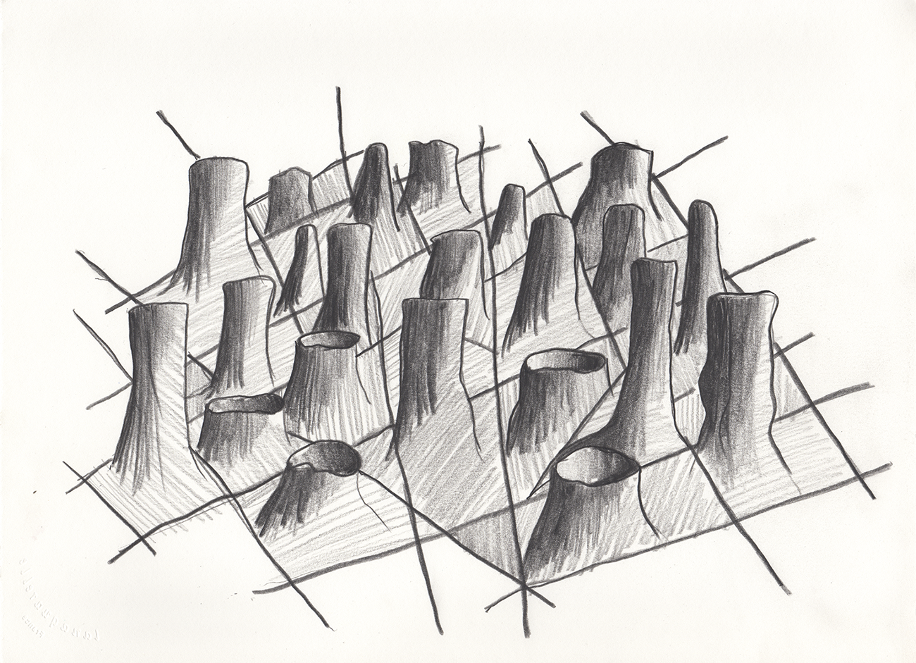 Clothing Sculpture Drawing: Sleeve Landscape 1