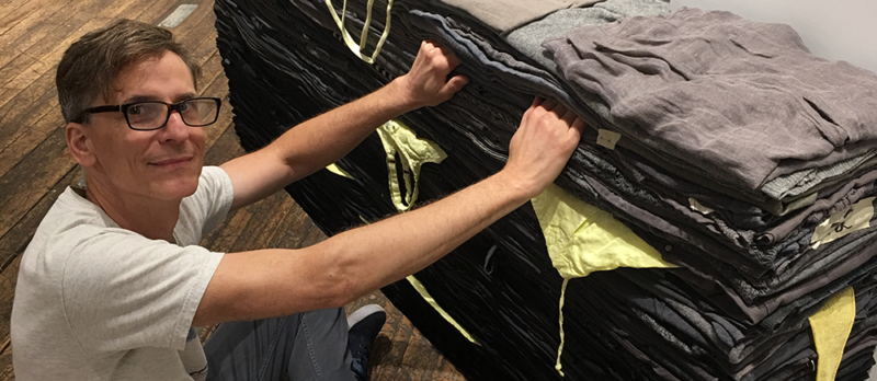 Clothing Sculpture Installation at Eileen Fisher, Brooklyn, 2018
