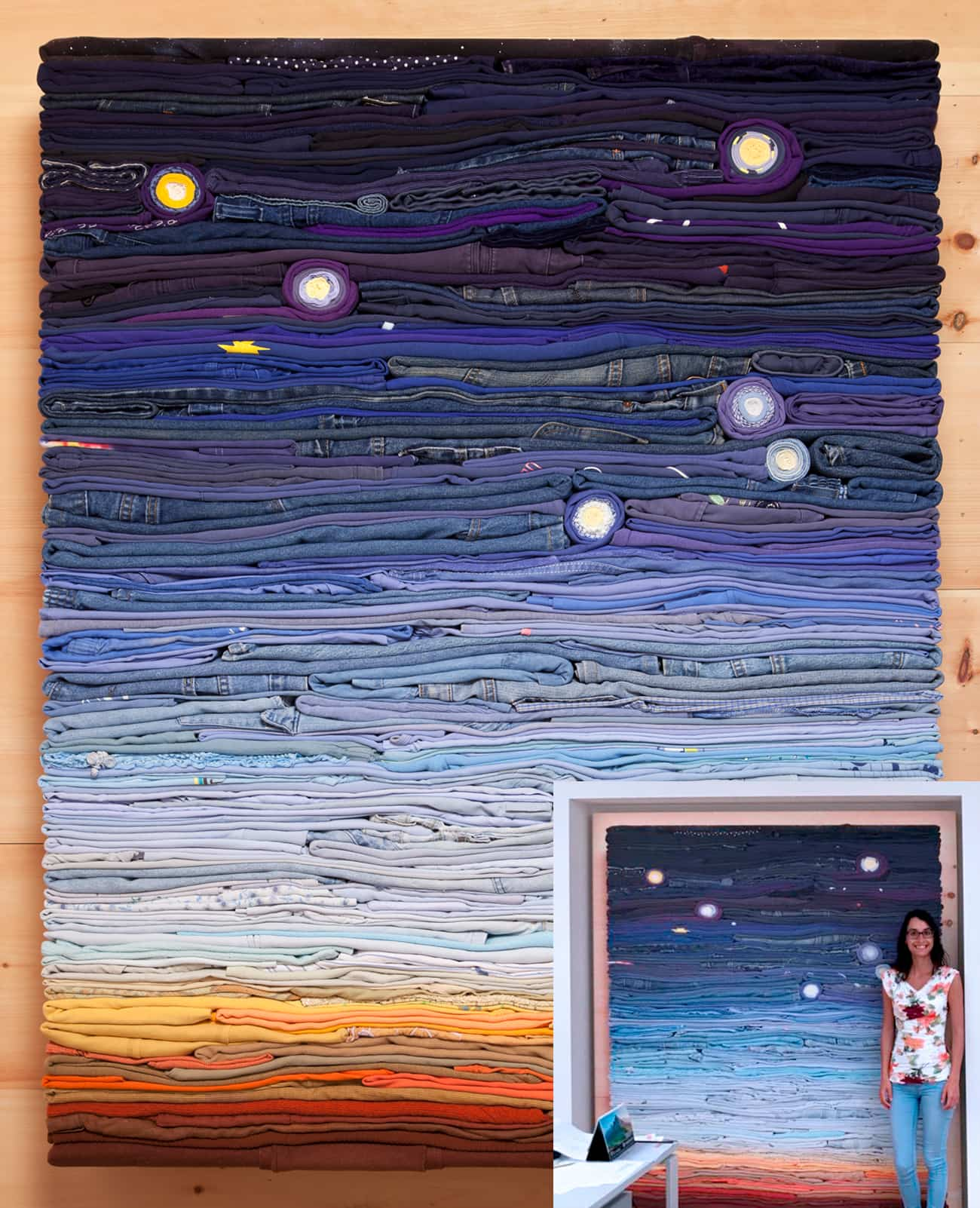 Night Sky, 2016 with Italian Collector Giorgia Lera.