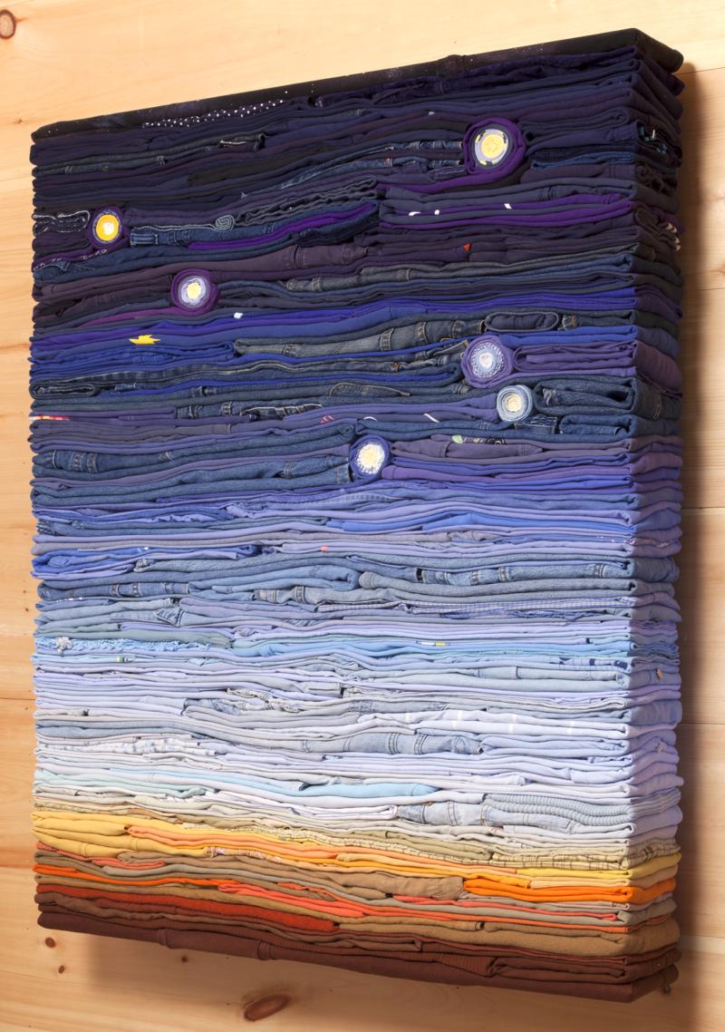 Clothing Sculpture: Night Sky (three quarter), 2016