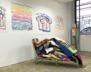 Clothing Sculpture – Installation Shot for Pop-up Studio