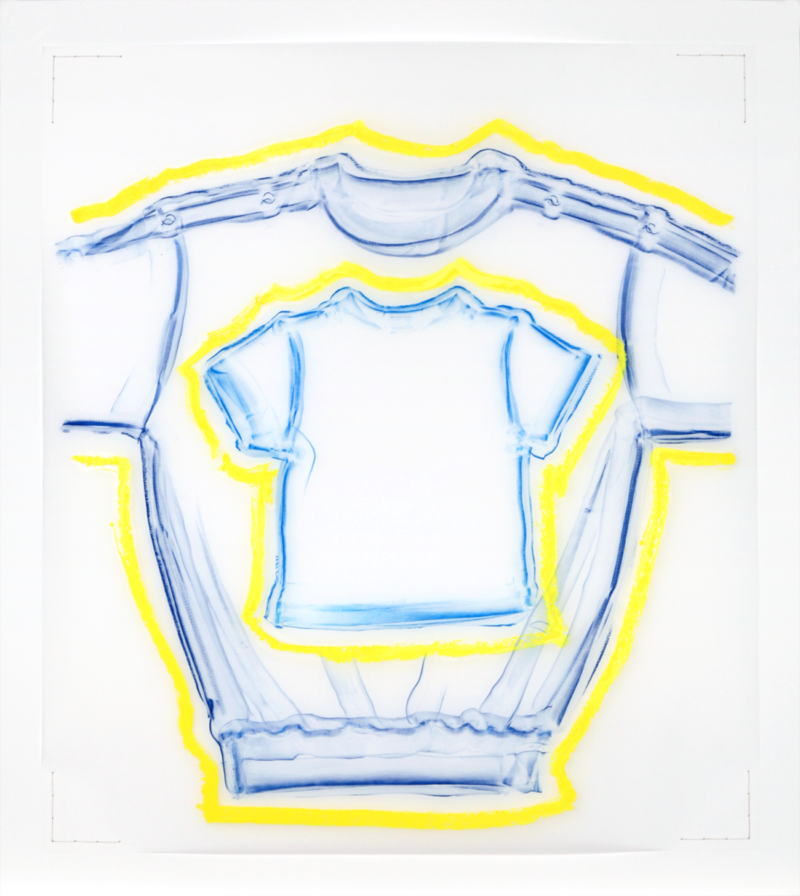Clothing Rubbing: Untitled 4 (Yellow Glow) 2019