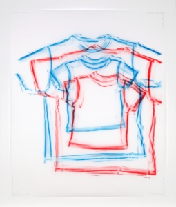 Clothing Rubbing: Untitled-2-Red-Blue-Double-T-2019