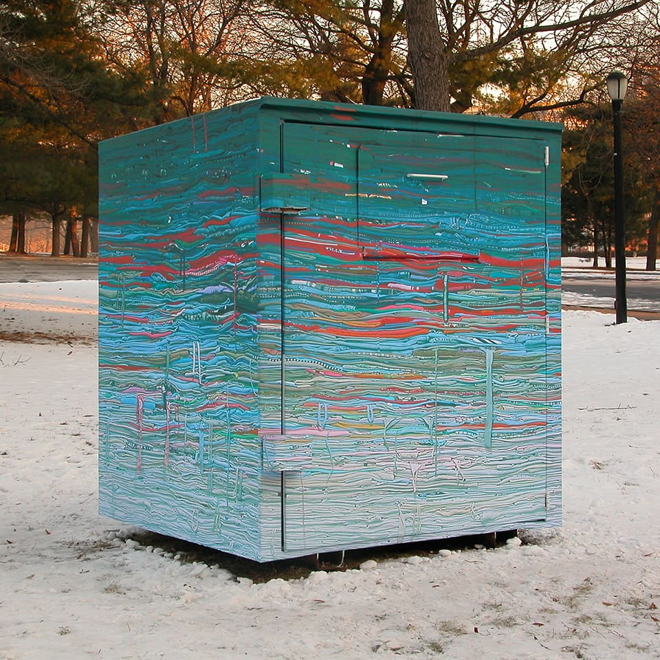 Clothing Sculpture/Donation Bin: Into the Fold, 2009