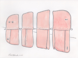 Clothing Sculpture - Plan for Folding Screen