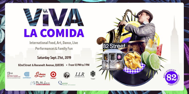 Viva Comida Poster, Jackson Heights, Queens